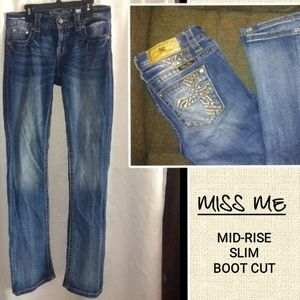 MISS ME MID-RISE SLIM BOOT CUT JEANS